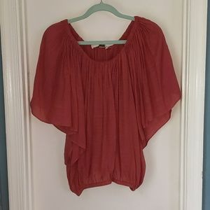 Short sleeve flow blouse